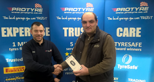 Tyreland Salisbury customer wins a Fit Bit Charge 2