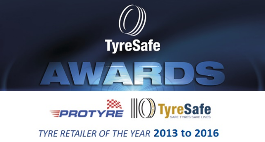 Protyre Wins Twice at the Tyresafe Awards 2016