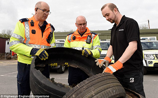 Checking tyre pressure and damage saves lives