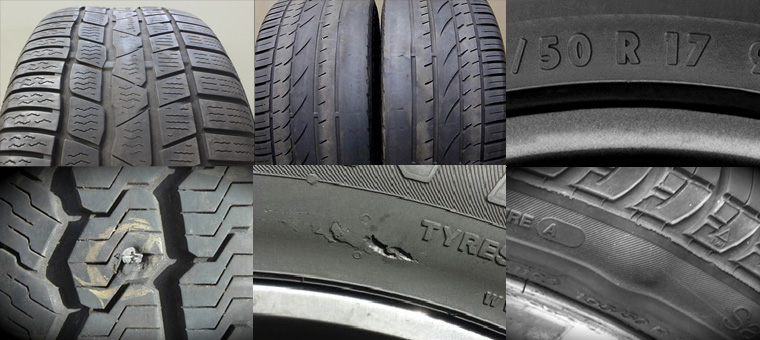 If your tyres are worn, bald, flat or bulging, they're dangerous.