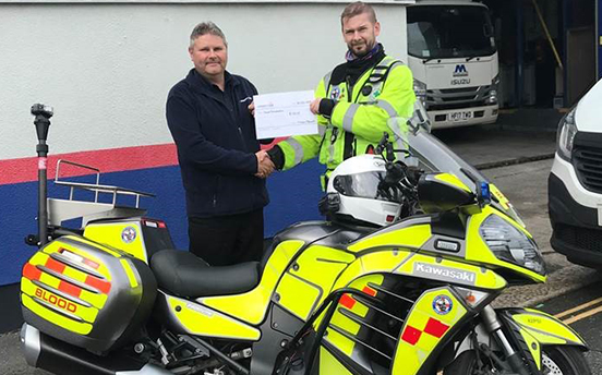 Plymouth keeping life saving Freewheelers on the road