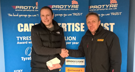 Tyre & Auto Hayling customer wins a Samsung Mobile Phone