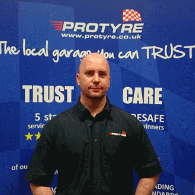 Mathew Chambers protyre garage manager